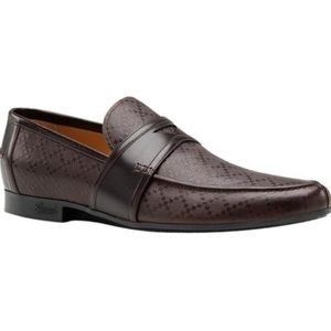 Authentic Gucci men's leather signature loafers 12